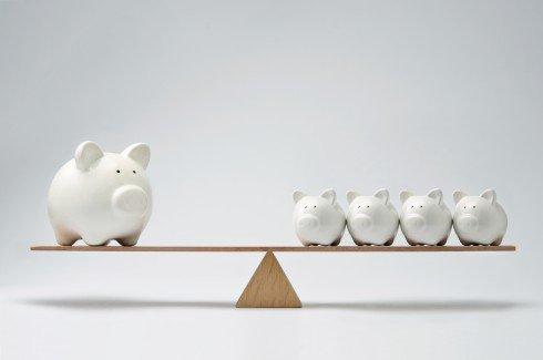 Piggy bank seesaw